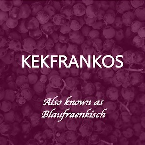 Kekfrankos is a typical Hungarian red grape variety