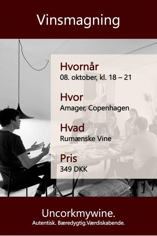Rumænske vine vinsmagning København